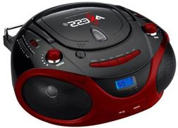 PORTABLE BOOMBOX MP3 CD PLAYER AM/FM RADIO USB INPUT  SD/MMC