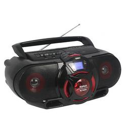 Naxa Portable Boombox with MP3/USB/CD/Cassette Playback & Bl
