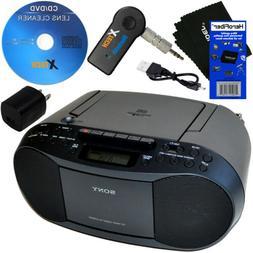 Sony Portable CD Radio Cassette Player Boombox+Wireless Blue