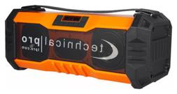 Technical Pro Portable Rechargeable Waterproof Bluetooth Boo