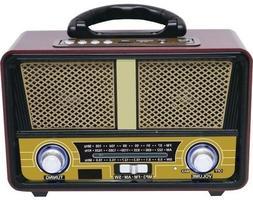 QFX Retro 90 Retri 90 Bluetooth Speaker with Am/FM Radio