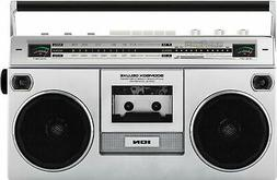 ION Audio - Retro Boombox with AM/FM Radio - Silver