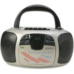 Califone Spirit CD Player/Cassette Recorder Boombox 1776  -