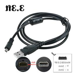 Fite ON USB Charger PC Data Sync Cable Cord for Sony Cybersh